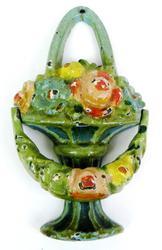 Early Cast Iron Petite Flower Basket Doorknocker
