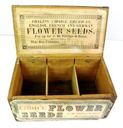 Antique Flower Seed Box