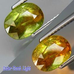 Super 2.13ct bi-color diamond luster Sphene