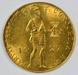 Great BU 1927 Netherlands 1 Ducat Gold Piece
