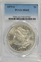 Super nice Gem BU 1879-S Morgan Silver Dollar PCGS MS65