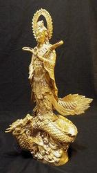 Gold Guan Yin the Chinese Goddess of Compassion