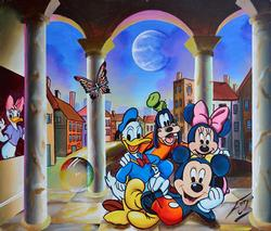 RARE FERJO DISNEY COLLECTION ORIGINAL ACRYLIC