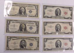 Estate Unc Note Lot, 1950's & 1963