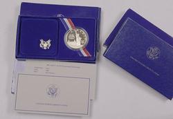 3 x Proof 1986 Liberty Commem Silver Dollars, OGP