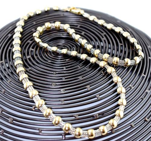 Unusual Two-Tone 14K Necklace