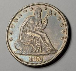 Awesome Tone 1872 Seated Liberty 50c, Circ