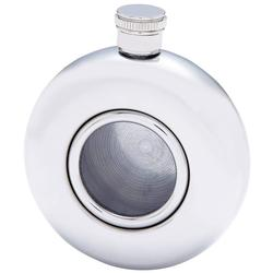 5oz Round Stainless Steel Flask