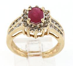 Dazzling Ruby & Diamond Cluster Ring
