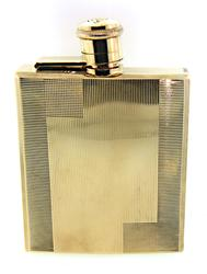 Highly Textured Gold Flask
