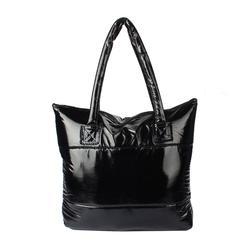 1PC Women Girl Space Bale Cotton Totes Handbag Feather Down Shoulder Bag