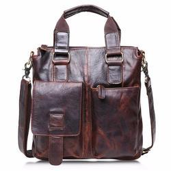 Buffalo Leather Messenger Satchel Laptop Briefcase Men's Bag Crazy Vinta
