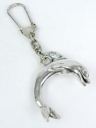 Large Sterling Dolphin Key Chain