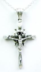 Large Vintage Sterling Crucifix & Chain