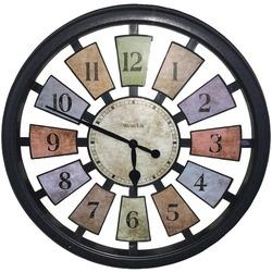 Westclox 18 Round Colored Panels See-through Clock