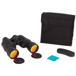 10x50 Binoculars with Ruby Red Coated Lenses for Glare Reduction