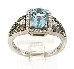 Delightful Aquamarine & Diamond Ring