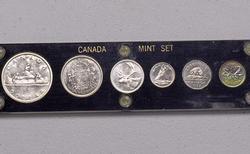 1957 BU Canada Mint Set, Capital Plastics Holder