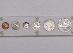 1960 BU Canada Mint Set, Capital Plastics Holder