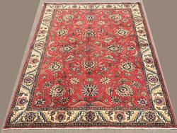 Enchanting Mid-20th C. Authentic Hand Woven Vintage Persian Carpet