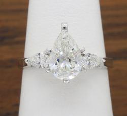1.25CTW Pear Cut Diamond Ring