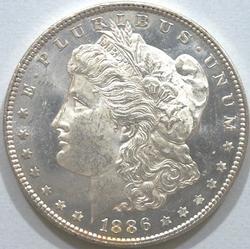Outstanding BU 1886 P Mint Morgan Silver Dollar-Proof-Like!