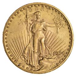 1914 $20.00 Saint-Gaudens Gold Double Eagle