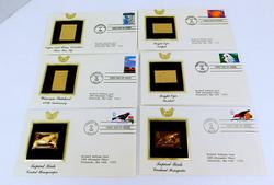 6 1st Day Issues & Gold Stamps, 1998