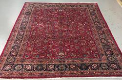 Handmade Persian Mashhad 11.0x14.8