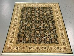 Handmade Wool/Silk Azerbaijani Kashan 8.6x11.6