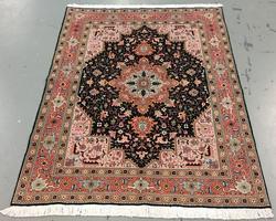 Handmade Wool/Silk Persian Tabriz 5.0x6.9