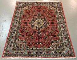Handmade Persian Mehraban 7.0x9.2