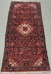 Handmade Semi Antique Persian Hosseinabad 3.7x9.1
