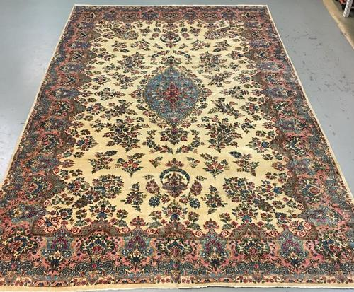 Large Handmade Persian Kerman 11x17.10