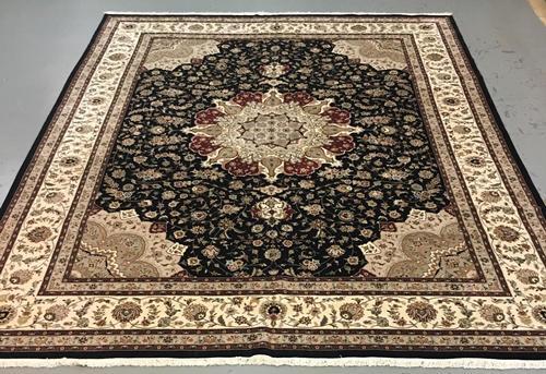 Handmade Wool/Silk Azerbaijani Tabriz 12.0x15.0