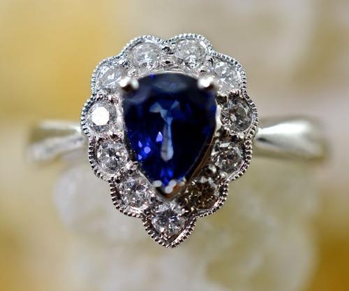 Sweet Sapphire and Diamond 18K Ring