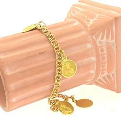 21KT Gold Christianity Themed Bracelet