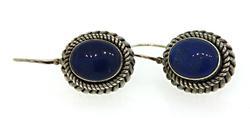 Sterling Silver Blue Gemstone Earrings