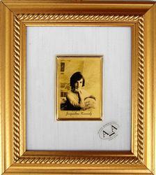 COLLECTIBLE LIMITED CERT 23KT GOLDLEAF FIRST LADY PORTRAIT