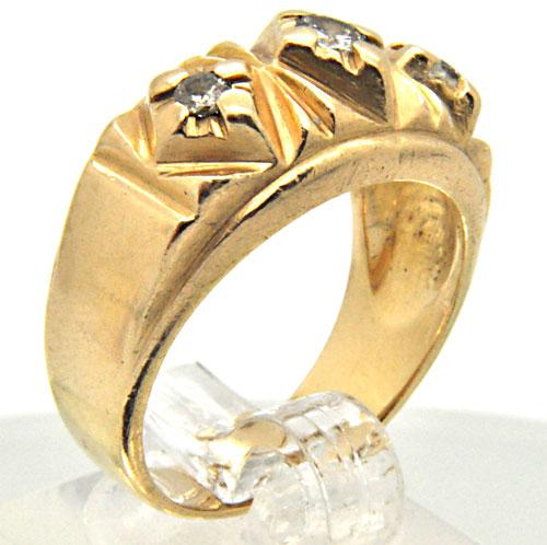 14K YELLOW GOLD MEN'S DIAMOND RING/BAND