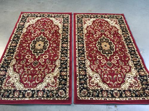 Persian Kashan Design Matching Pair 3x4 Area Rug
