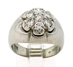 Handsome Gents Diamond Cluster Pinkie Ring