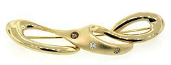 Contemporary Diamond Loop Brooch