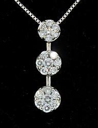 Bold Past-Present-Future Diamond Cluster Pendant