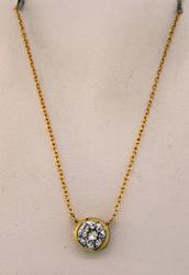 Gold Plated CZ Necklace