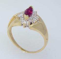 Vintage Style Ruby & Diamond Ring