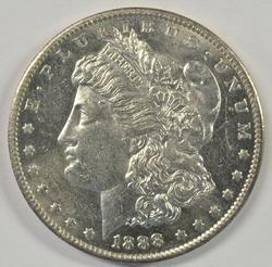 Flashy semi-Prooflike BU 1888-O Morgan Silver Dollar