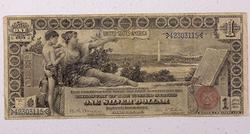 Popular 1896  $1 Educational Silver Certificates FR 225