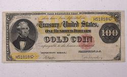 Choice Clean 1882 $100 US Gold Certificate