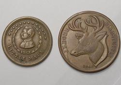 Two Different  size 1863 Civil War Tokens